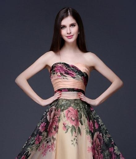 Premium Party Dress Import DS4206 Beige