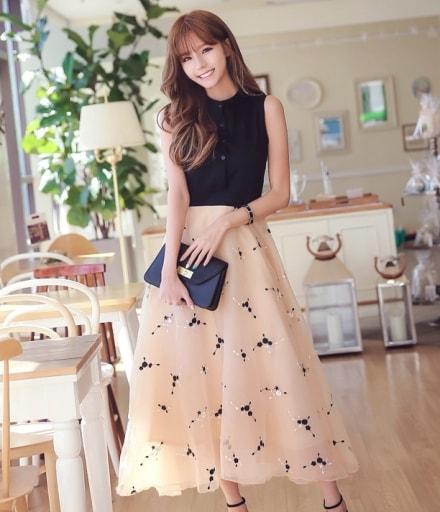 Elegant Maxi Long Dress Import DS4211 Black