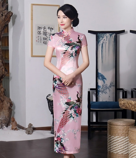 Classic Long Cheongsam Import DS4324 Pink 0cf3f636f4