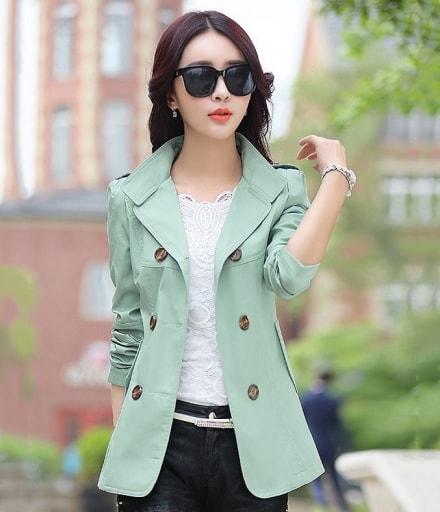 Premium Medium Coat Import JC854 Light Green