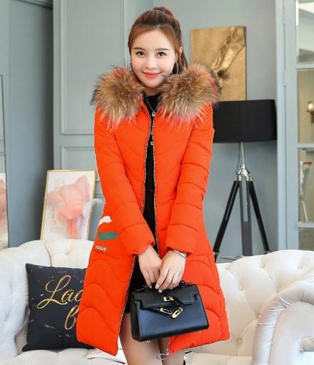 Long Coat Winter Korea Import JC960 Orange 0a53ce3b39