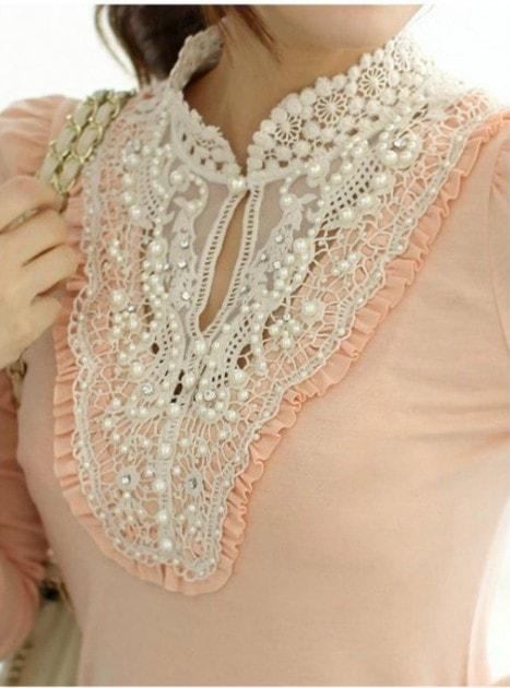 Блузы с кружевом своими руками