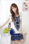 Dress DS846-Blue