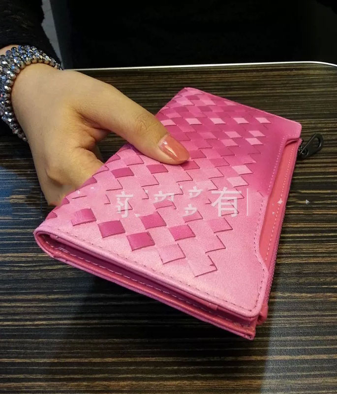 Dompet korea kulit asli bg pink tamochi