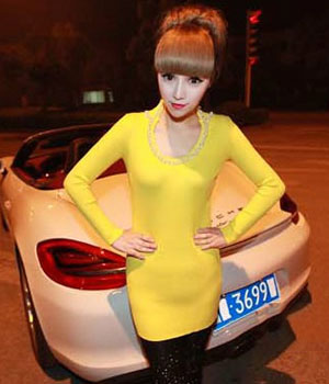 Dress DS3454 Yellow