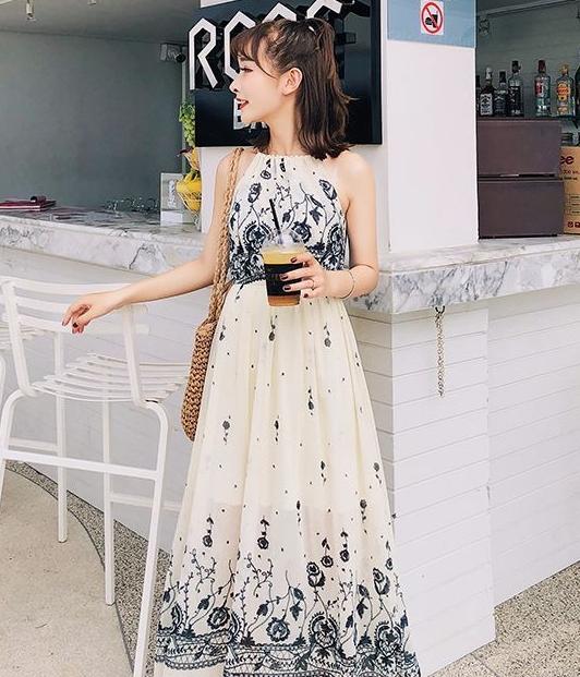 Premium maxi long dress import ds yellow tamochi