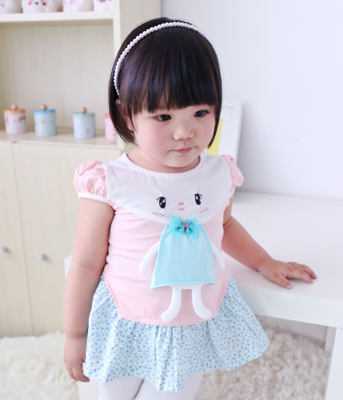 Cute cartoon dress import kd pink tamochi