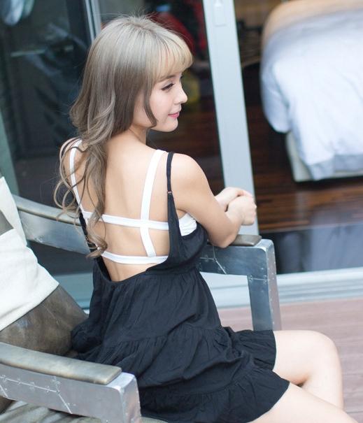 Fashion sport bra import lg white tamochi